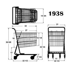 Yuanda American Style Supermarket Shopping Grocery Trolley