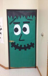 My Frankenstein door I did for my classroom door ...