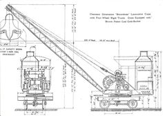 Technical Drawing Drafting Antique Excavator Print 110