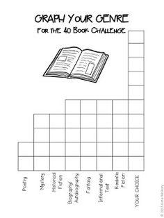 40 BOOK CHALLENGE BAR GRAPH READER'S NOTEBOOK PAGE