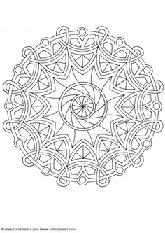 Vintage Art Nouveau Mandala Coloring Page for Adults (and