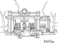 Pickup trucks, Trucks and Coloring pages on Pinterest