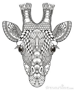 giraffe coloring page #colorpagesforadults #