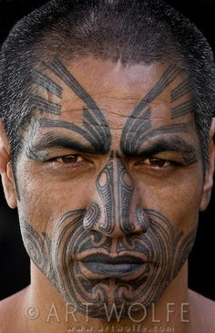 "Maori Woman Face Tattoo Called ""moko"" Maori Are"