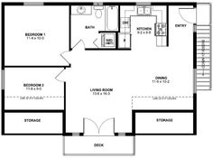 CADSmith ~ 3 Bay Garage with 2 bedroom apartment over Plan