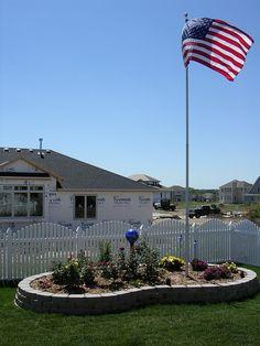 landscaping ideas flagpole