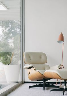 White Eames chair