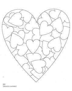 Ausmalbild Herzen zum Muttertag kostenlos speichern und