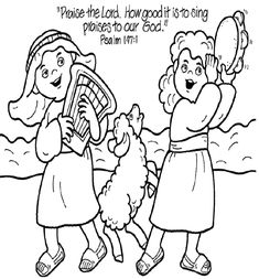 Coloring Page Psalm 100 2 Coloring Pages