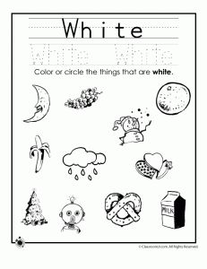 Learning Colors Worksheets for Preschoolers Color Blue