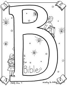Bible alphabet coloring pages... a new letter is added