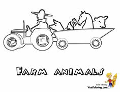 Construction Coloring Pages Of Tractors