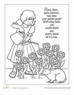 FREEBIES: Over 40 free printable nursery rhyme posters for
