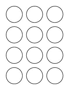 1 inch square pattern. Use the printable outline for