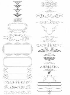 Digital Clipart Flourish Clip Art Swirls Vintage Design