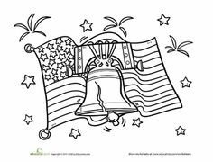Liberty Bell pattern. Use the printable outline for crafts