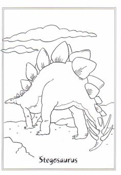 Coloring, Coloring books and Dinosaur coloring pages on