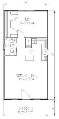 16' x 24' Sample Floor Plan. Please note: All floor plans