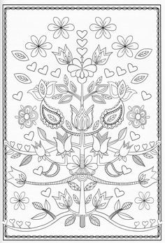 Coloring Page for Adults Tea time by Egle Stripeikiene