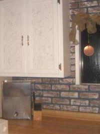 Paintable wallpaper for minibar backsplash   My rooms ...