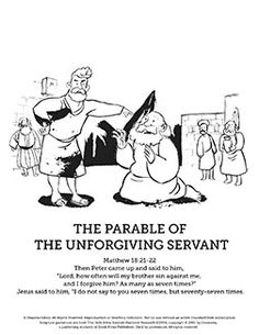The Parable of the unforgiving servant Lesson ~ Sunday