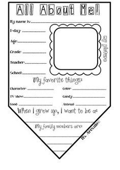 This All About Me Banner Template is a fun worksheet for