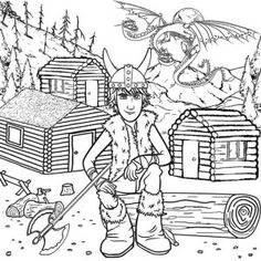 Train your dragon, Coloring pages and How to train your on