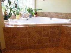 Tile Around A Garden Tub Should Look Something Like This When I