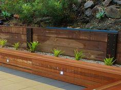 Modern Wood Retaining Wall The Garden Pinterest Steep