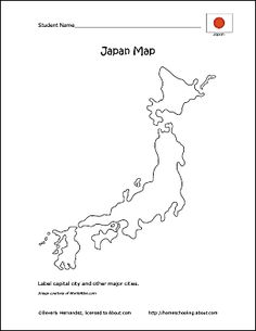 We've created this printable map of Japan for you to label