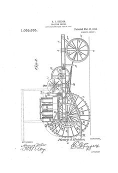 Patent Drawing for J. H. L. Tuck's Submarine Vessel, 04/29
