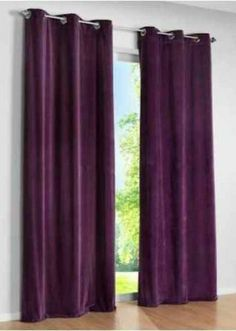 Plum Color Royal Pure Velvet Curtains Drapes Panel By Lavishmart