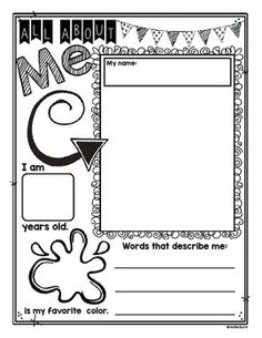 K is for Kindergarten- photo frame-- paste kid pic in the