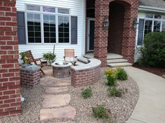 Yard Design Ideas Front Patio! I Love The Idea Of A Low Wall