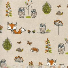 These Lovely Nursery Childrens Curtains Are Made In A Woodland