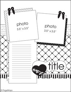 Layout, Scrapbook layouts and Sketches on Pinterest