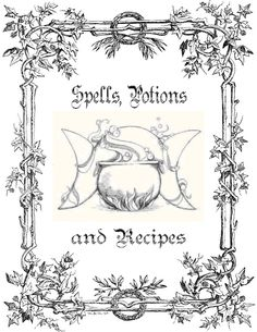 Spell books, Flower borders and Witchcraft on Pinterest