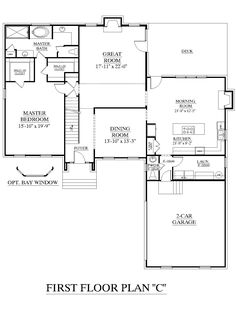 House Plan 2995 C Springdale First Floor Traditional 2 Story