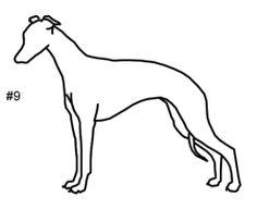 Greyhound dog applique template pdf applique pattern by