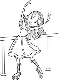 Gracie, character from Angelina Ballerina coloring page