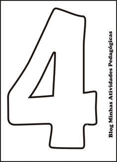 Minhas Atividades Pedagógicas: Molde de Números para