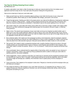 What Is Cover Letter Resume