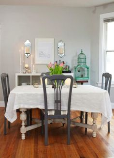 white dining room table and 6 chairs wicker swing chair sale 1000+ images about the perfect gray on pinterest | behr, paint colors benjamin moore
