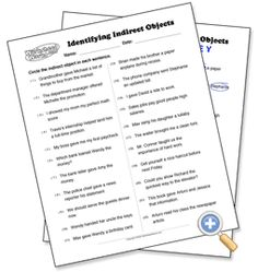 French Direct and Indirect Objet Pronoun Worksheet (with