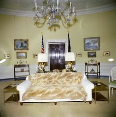 Yellow Oval Room White House John F Kennedy Presidential Library Museum