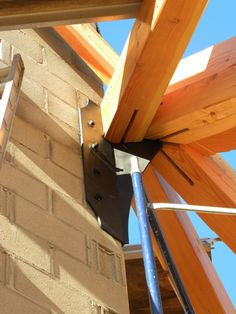 The Glulam Beams Are Connected By Steel Flitch Plates