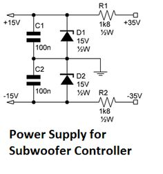 Subwoofer controller uses a single IC TL072 circuit