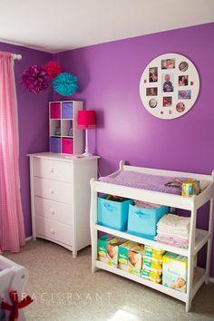 Purple Turquoise  Pink Nursery on Pinterest  Chevron Polka Dots and Nurseries