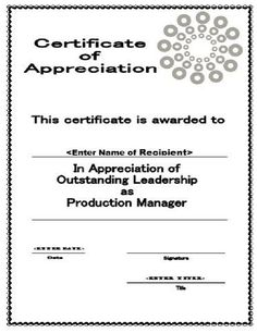 Leadership Award Template for employees or students.. Free