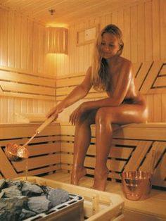 hot bare russian sauna